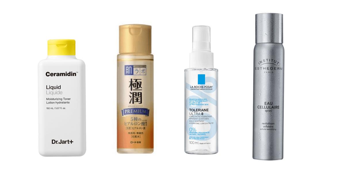Tónicos na melhor rotina para pele desidratada