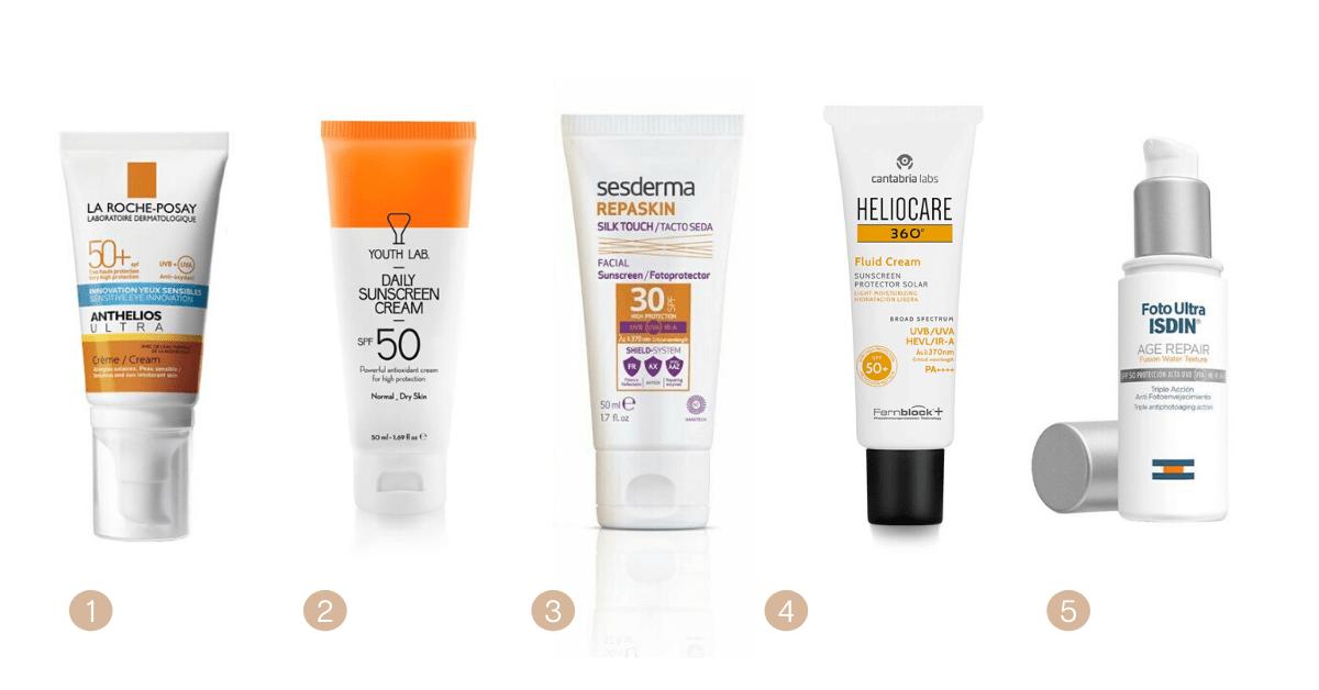 os melhores protetores solares para pele seca