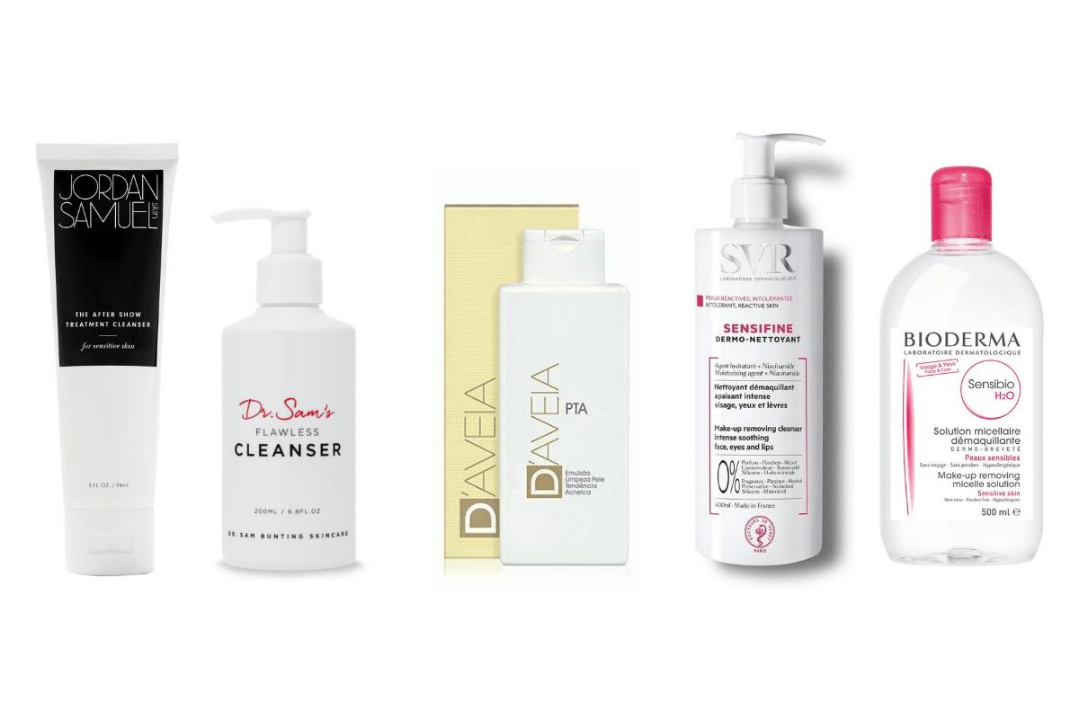 Limpeza para pele sensível